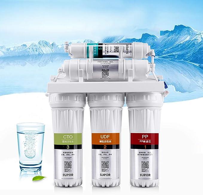 LIANGJING Purificador de Agua Filtro de Agua del Grifo de la Cocina máquina de ultrafiltración Frontal filtración en Cinco etapas microfiltración: Amazon.es