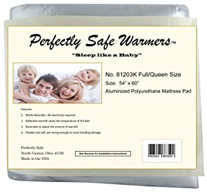 Body Heat Activated Crib, Twin, Full, Queen or King Size Bed Warmer Mattress Pad (Full/Queen)