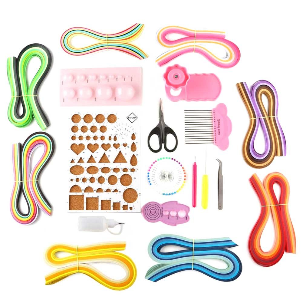 CHUANGLI 20Pcs Paper Quilling Assorted Kit Set Art Decor 5mm Paper Rolling Set(5mm Paper Quilling + Paper Quilling Tools)