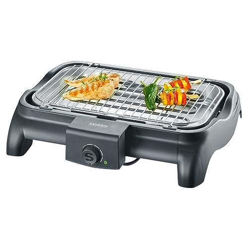 SEVERIN PG 8511 Barbecue-Tischgrill 2300W Grillfläche 37x23 cm schwarz