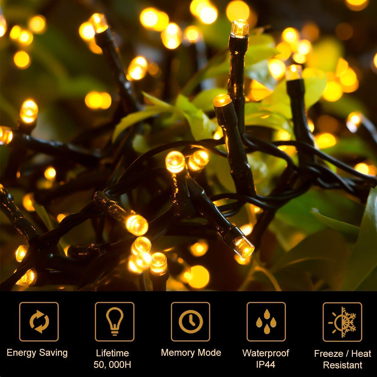 Quntis 83Ft 1000 LEDs String Lights Warm White UL588 Approved Outdoor /& Indoor Waterproof Christmas Decoration Lights 8 Modes Holiday Twinkle Fairy Lights for Home Garden Wedding Party Xmas Tree