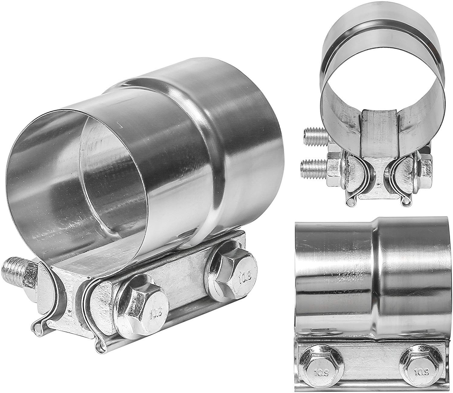 TOTALFLOW 2.75 TF-J59 304 Stainless Steel Lap Joint Exhaust Muffler Clamp Band-2.75 Inch