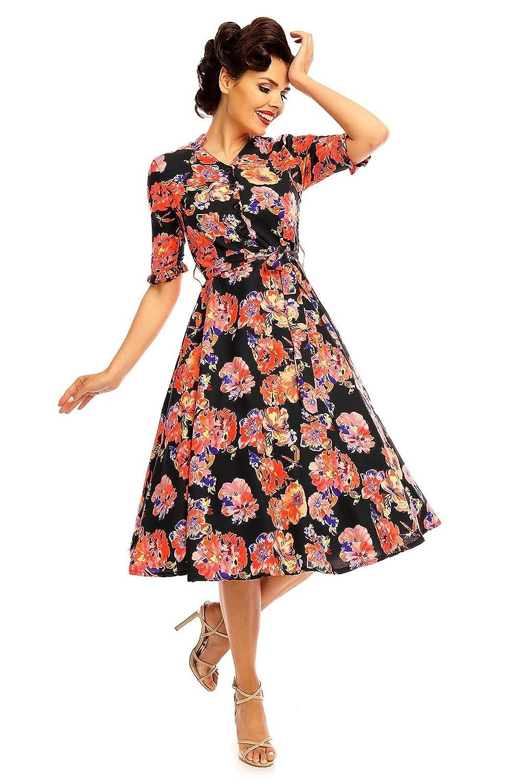 Looking Glam Vestido Inspirado en Camisas de los años 40 para Damas: Amazon.es: Ropa y accesorios