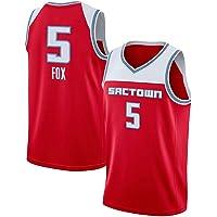 XZDM Camiseta De Baloncesto para Hombre Sacramento Kings, Chaleco Sin Mangas Bordado Daron-Fox # 5, Camiseta Deportiva…