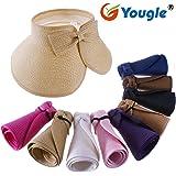 Yougle ® Fashion Girl Lady Beach Sun Visor Foldable Roll up Wide Brim Straw Hat Cap Free Shipping