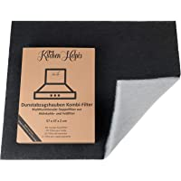 Kitchen Helpis® Filtros de Campana Extractoras combinados – Filtros Dobles de Carbón activo y Grasa 57x47 cm, Filtro se…