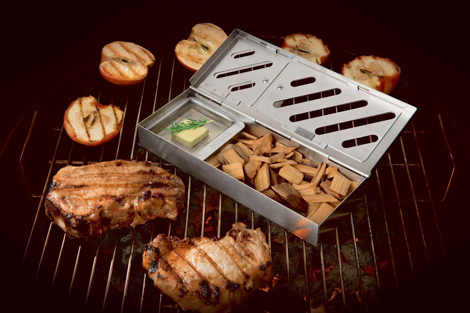 Taylor Precision Products 849GW Durable Grill Smoker Box (3 Piece), 0 by Taylor Precision Products (Image #9)