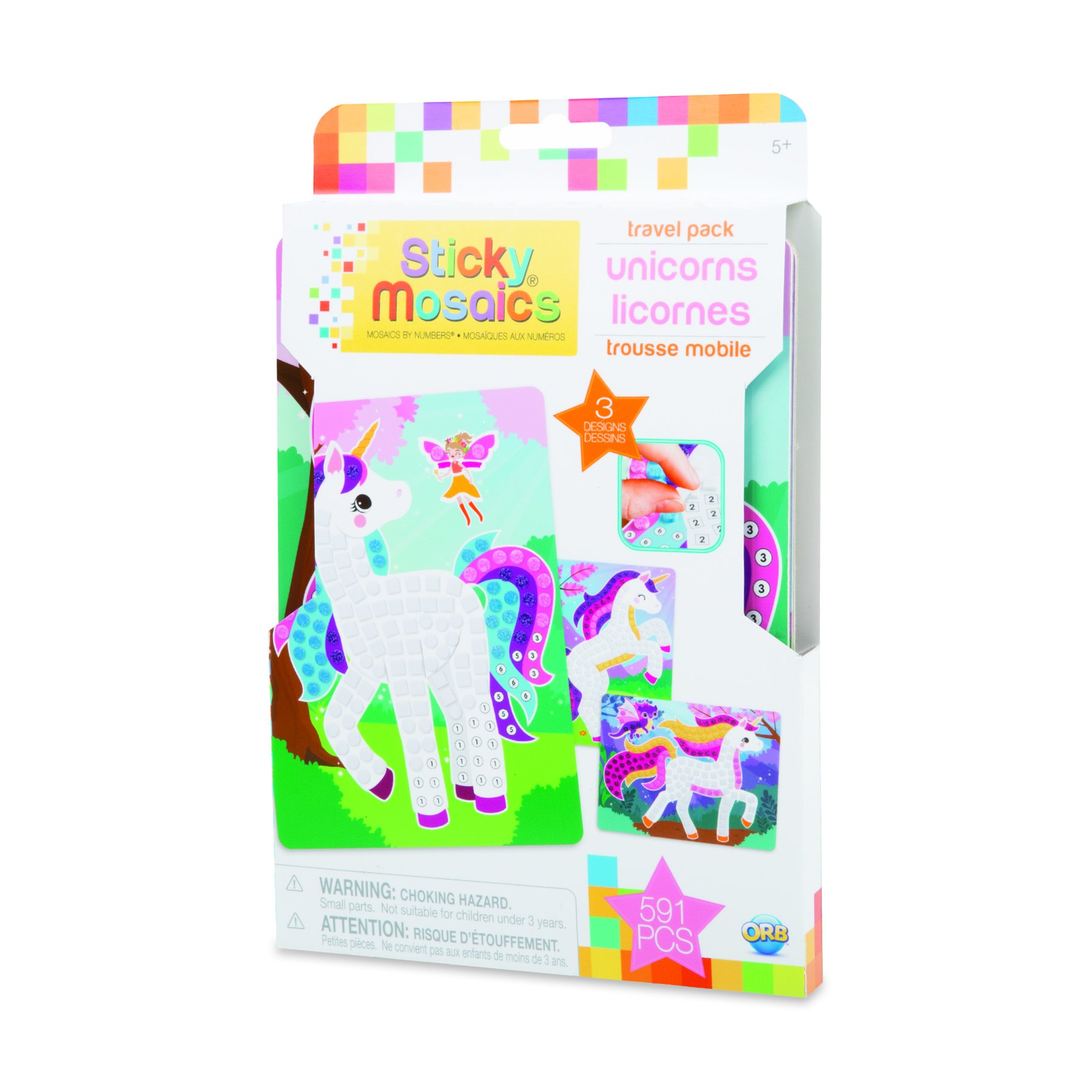 The Orb Factory Sticky Mosaics Travel Pack Unicorns