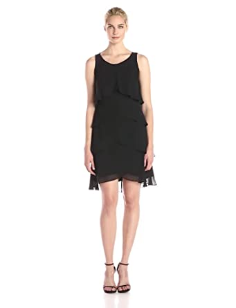 Amazon.com: S.L. Fashions Women&39s Jewel-Strap Tiered Cocktail ...