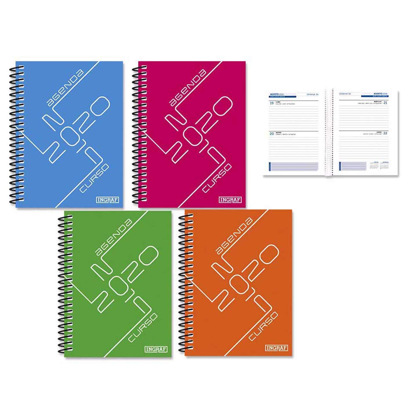 Agenda Escolar Network diseño Cruzada 2019 2020 en Pack 4 ...