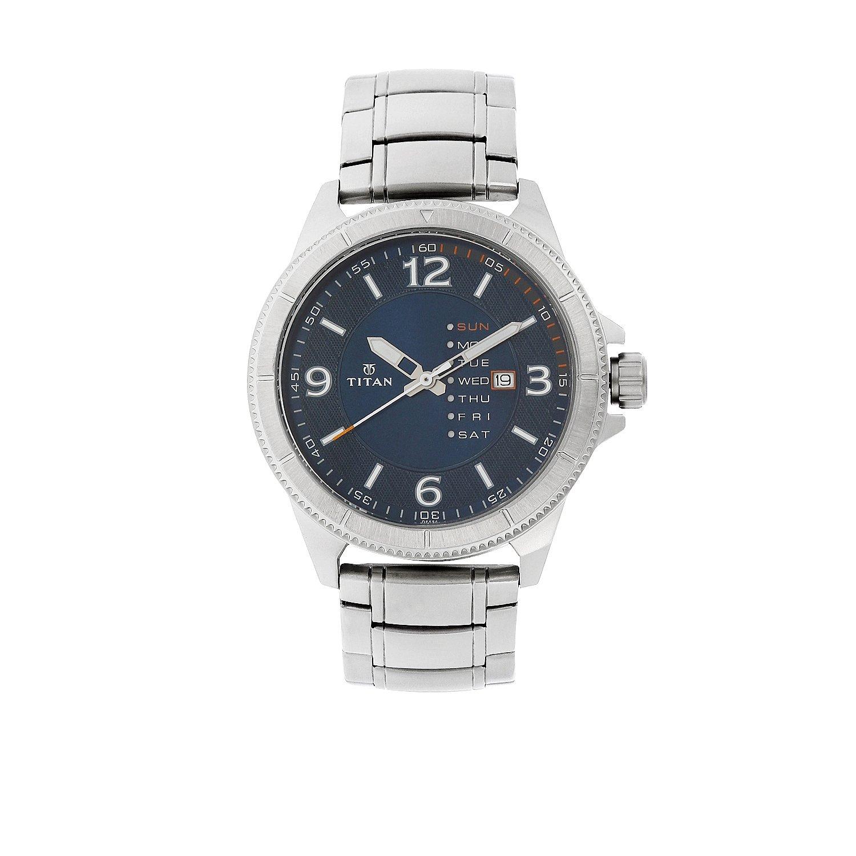 Nj1701sm01 Blue Watch Steel Purple Dial Analog Men's Titan uPXkZi