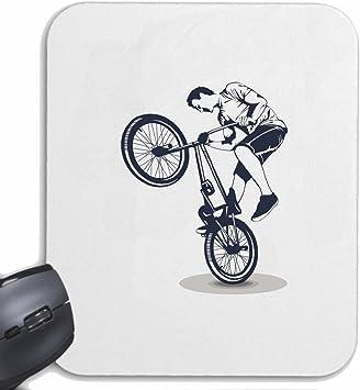 Mousepad alfombrilla de ratón CICLISMO DE BICICLETA BMX freestyle motocross Chopper BICICLETA FREESTYLE para su portátil, ordenador portátil o PC de Internet (con Windows Linux, etc.) en White: Amazon.es: Electrónica