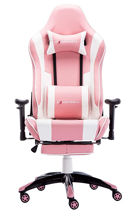 Pleasing Dansitwell Gaming Chairs For Adults Ergonomic Adjustable Racing Chair With Footrest High Back Computer Chair With Headrest And Massage Lumbar Support Squirreltailoven Fun Painted Chair Ideas Images Squirreltailovenorg
