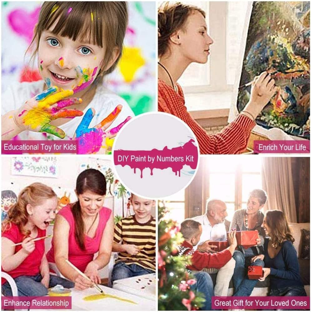 xdai Adult Painting by Numbers Kits For Kids Beginner DIY,Arab woman Canvas Home Wall Room Decoration Frameless Christmas 40x50cm