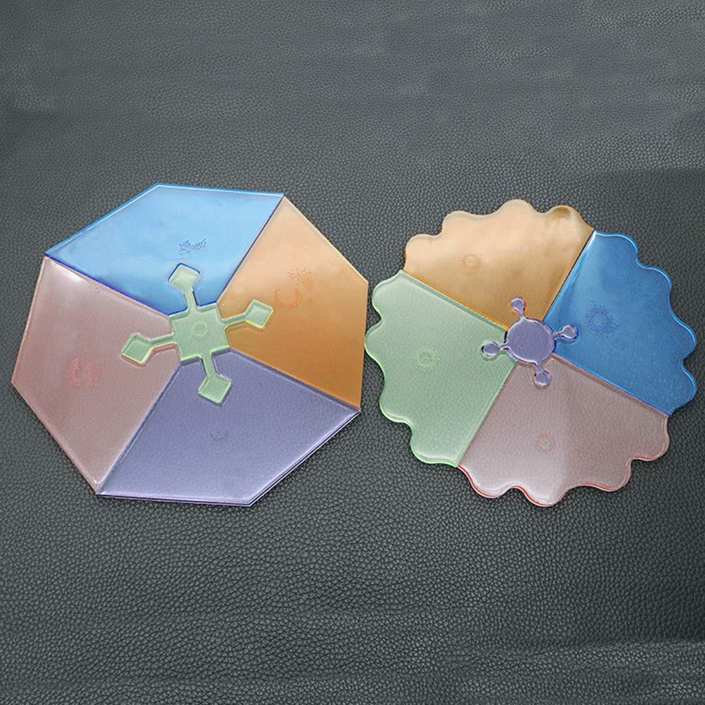 Sara-u 3 Pcs//Set DIY Irregular Coaster Crystal Epoxy Mould High Mirror UV Resin Molds