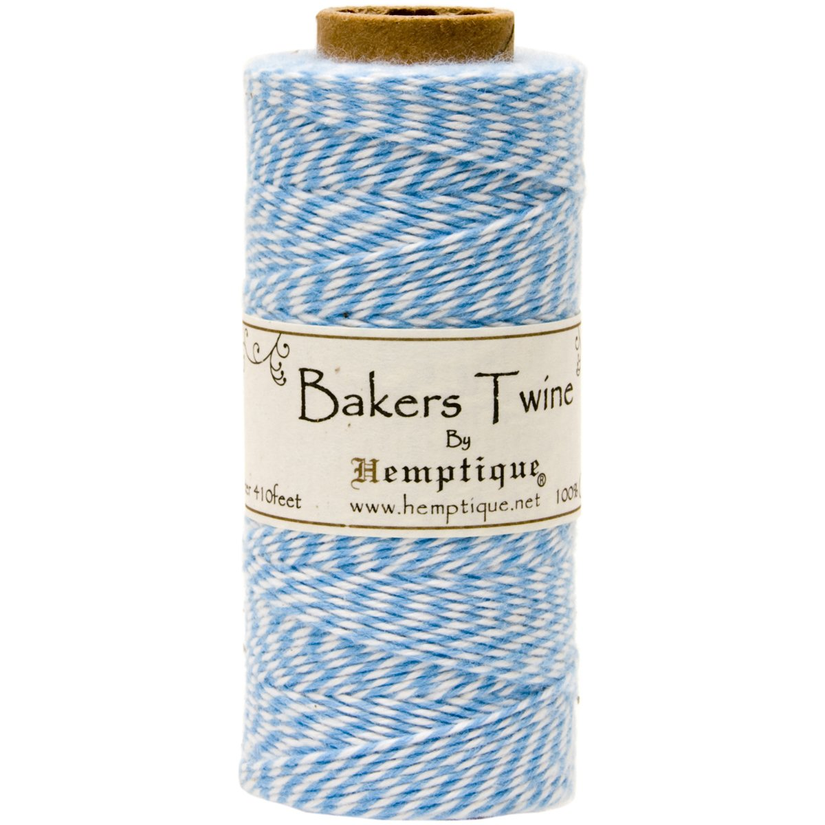 410-Feet Black Pack of 2 Hemptique Cotton Bakers Twine Spool 2 Ply