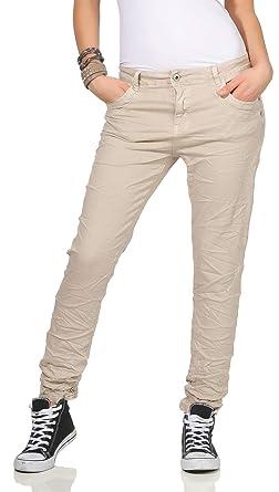 254556403ea793 KAROSTAR Chino Damen Jeans Baggy Hose Boyfriend Hüfthose 19 (38, Beige)