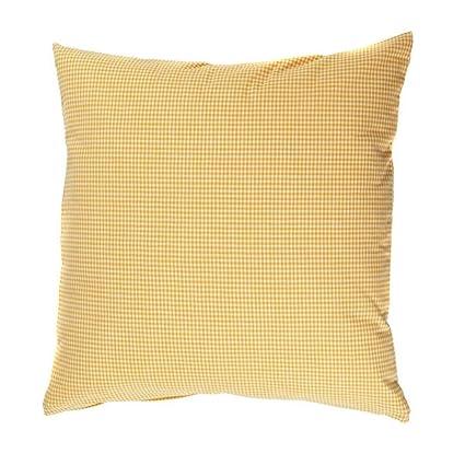 Funda de almohada de 30 x 30 cm vichy de cuadros y 2 x 2 mm