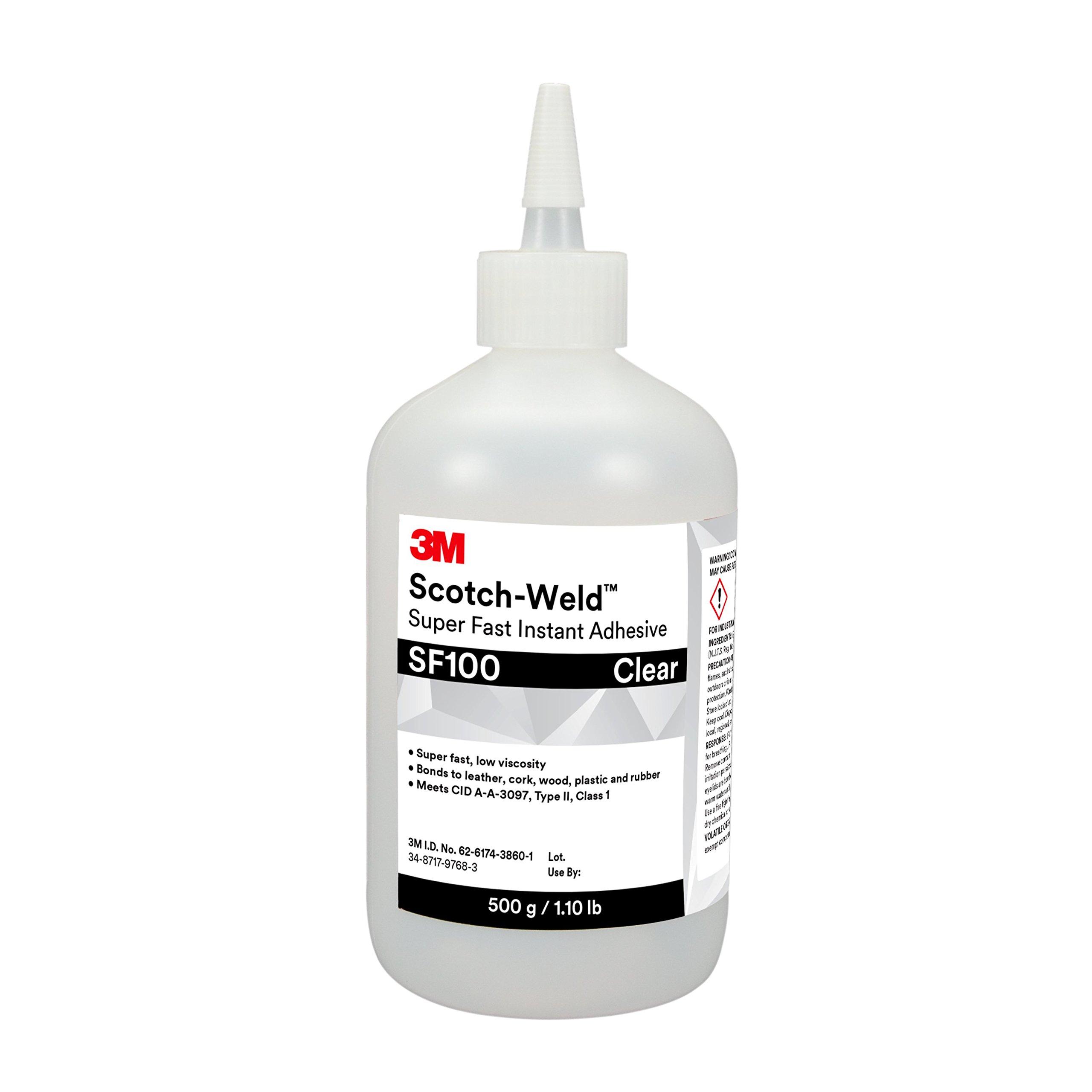 3M Scotch-Weld 25267-case Surface Insensitive Instant Adhesive SI100, 1 lb/453 g Bottle, 1 per case, 15.318 fl. oz.