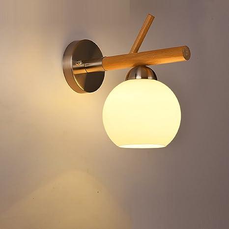Amazon.com: juiang moderno madera maciza lámpara de pared ...