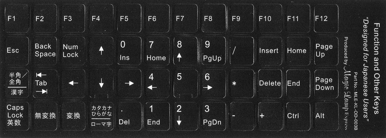 付け パソコン キーボード 貼り