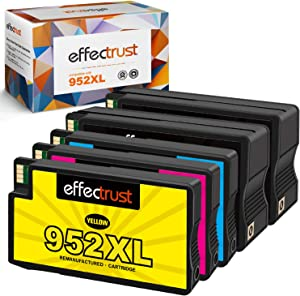 effectrust Remanufactured Ink Cartridge Replacement for HP 952 XL 952XL 952 High Yield for OfficeJet Pro 8710 8720 7740 8740 7720 8730 8210 8715 8216 8725 8702 -New Upgraded Chips (5 Pack)