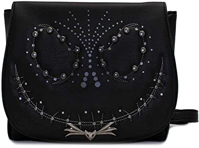 71e5d7d53a6 Loungefly x Nightmare Before Christmas Jack Studded Flap Crossbody Bag (One  Size