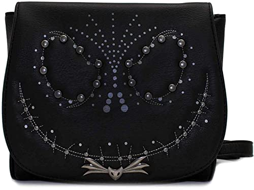 Loungefly x The Nightmare Before Christmas Jack Studded Crossbody Bag   Amazon.ca  Shoes   Handbags 85c94a4c95a0d