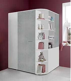 Amazon De Kinderzimmer Eck Kleiderschrank Begehbar Garderobe