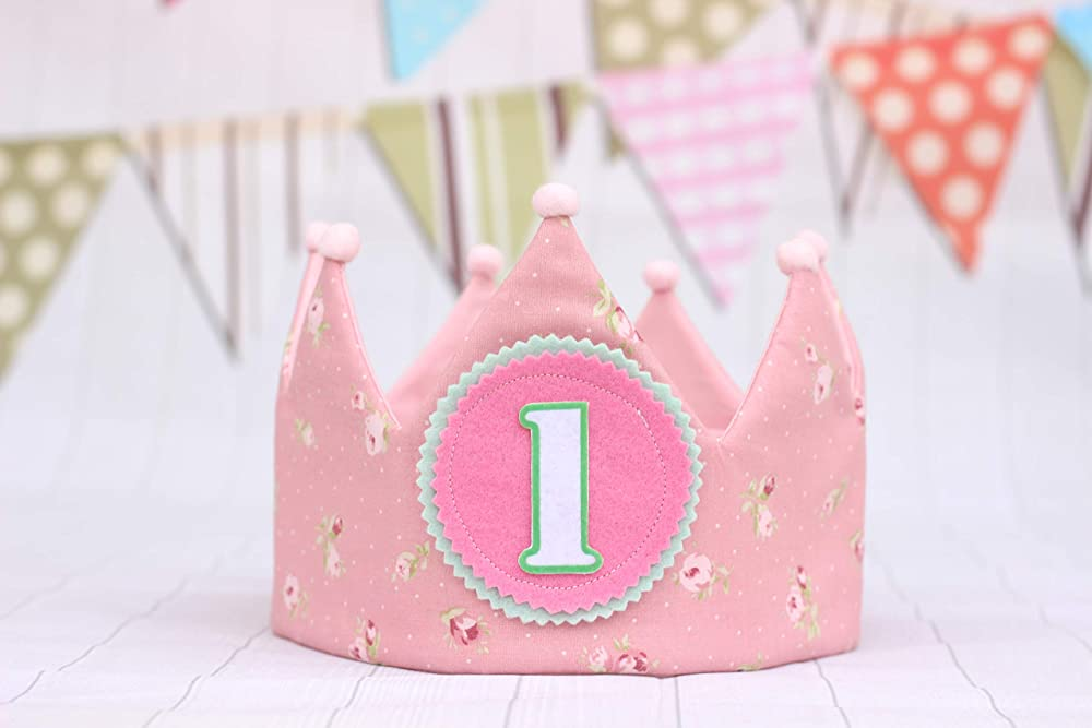 Corona de cumpleaños para bebé niña corona 1 año bebe ...