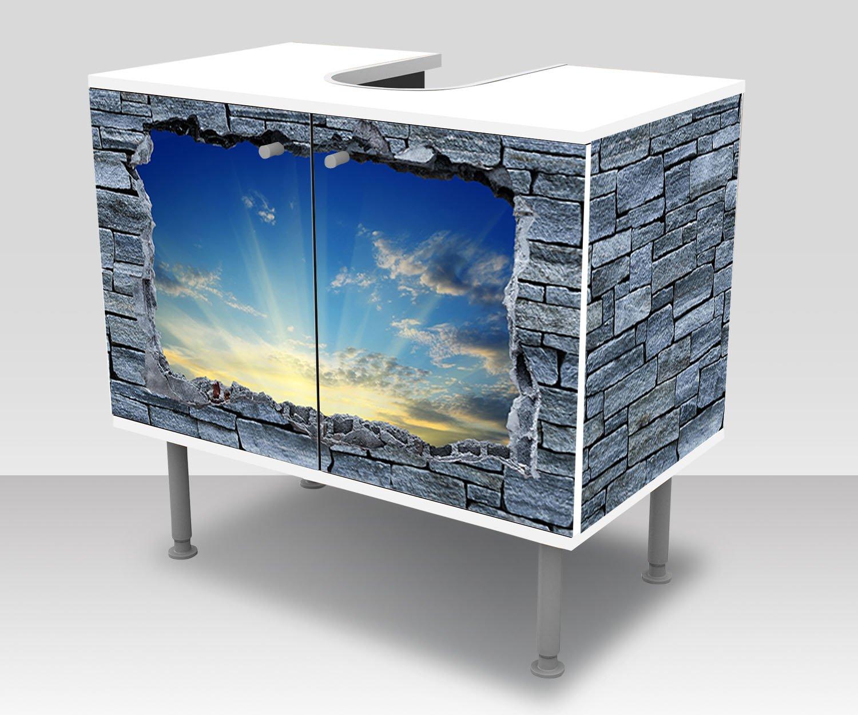 60x55 cm bianco Ikea FULLEN Mobile base per lavabo con 2 ante