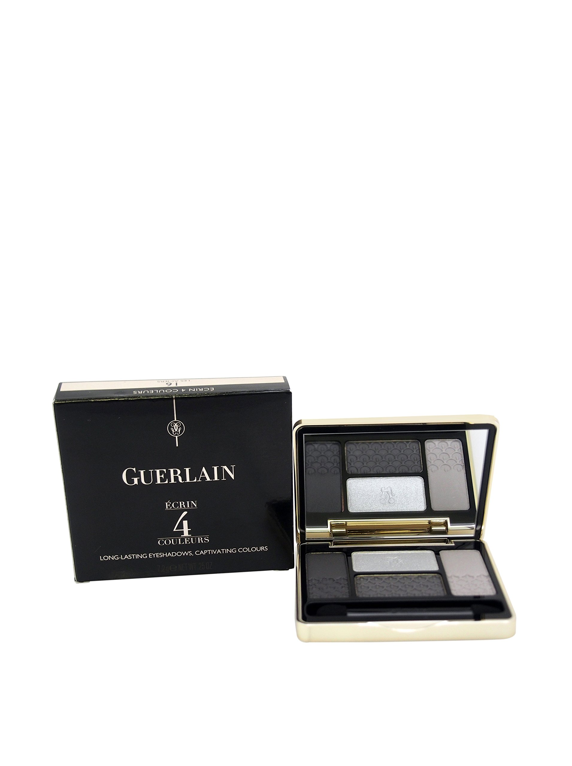 Guerlain Ecrin 4 Couleurs Eye Shadow for Women, Palette No. 16 Les Aciers, 0.25 Ounce