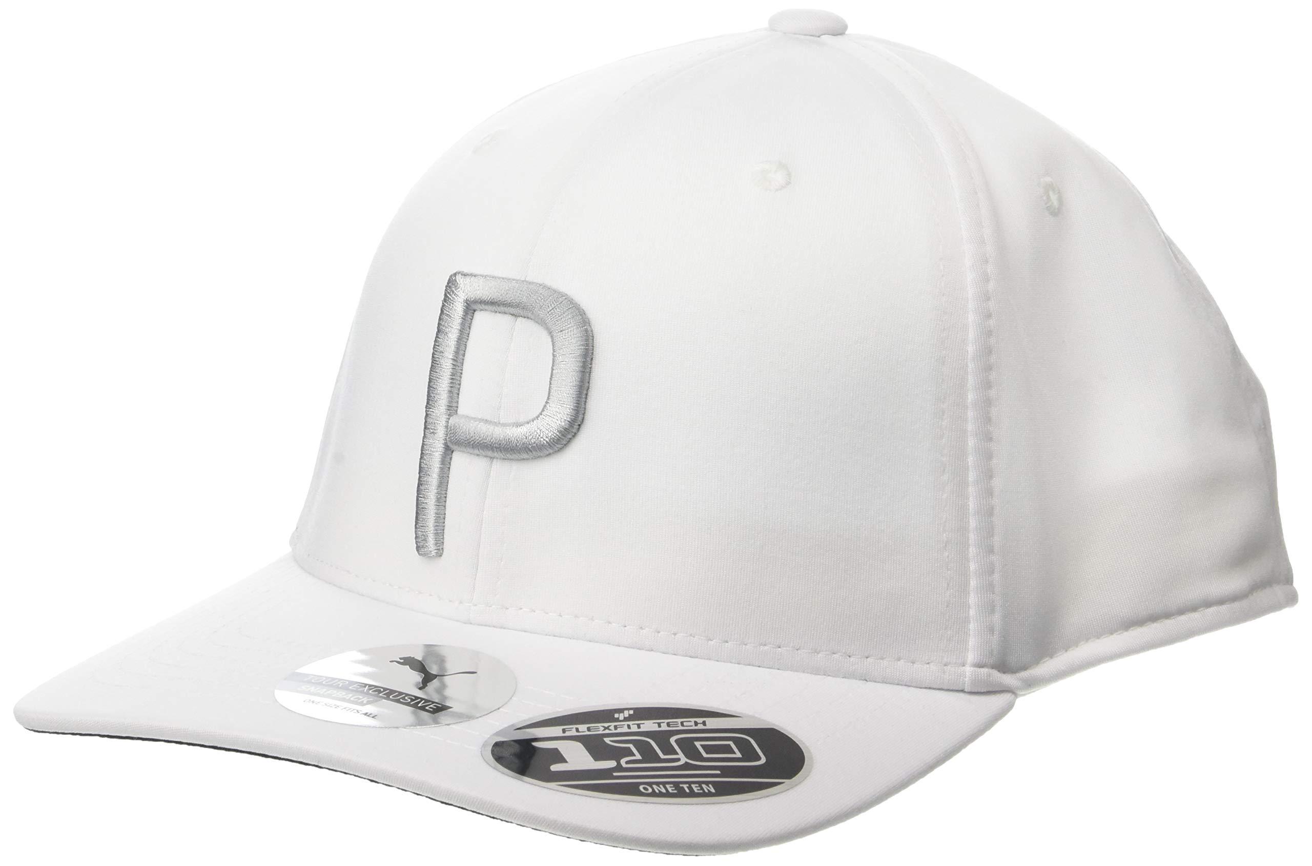 Puma Golf 2018 ''P'' Snapback Hat (Bright White Heather, One Size) Rickie Fowler P  Hat
