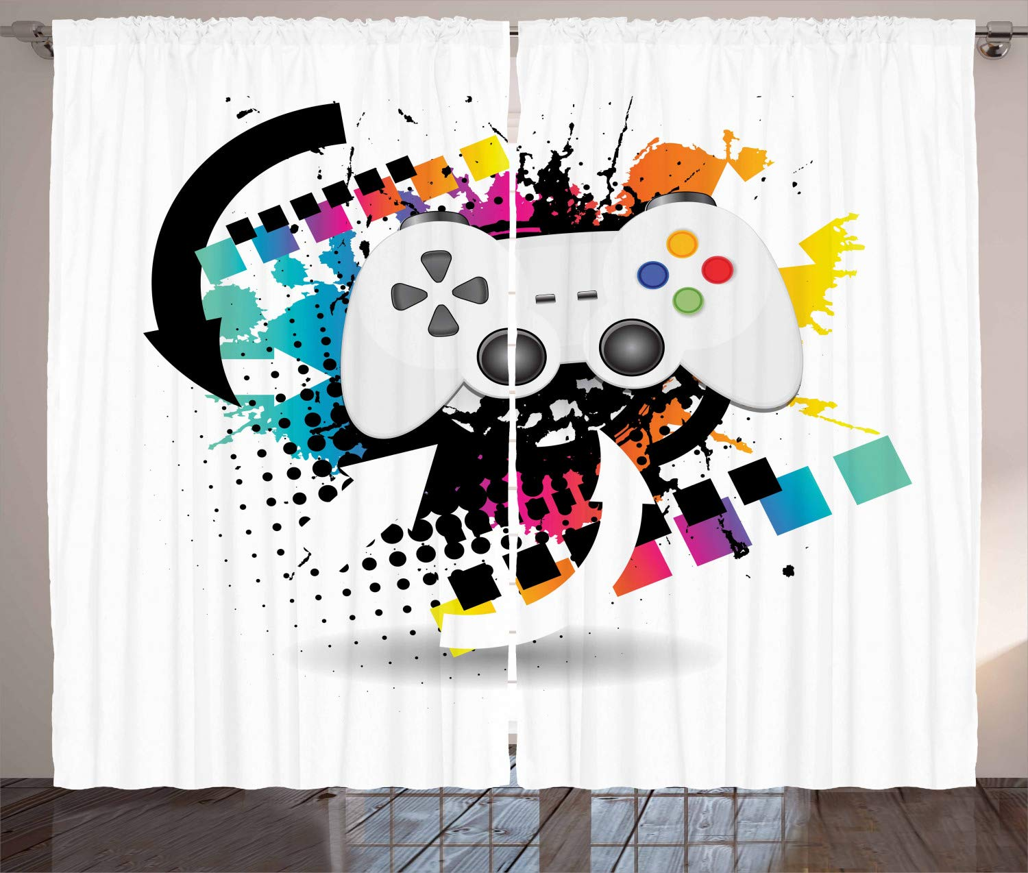 108 W X 108 L Inches Extreme Sports Depicting Silhouettes with Vibrant Colors Surfing Bmxing Snowboarding Living Room Bedroom Window Drapes 2 Panel Set Lunarable Sports Curtains Multicolor p/_45160/_108x108