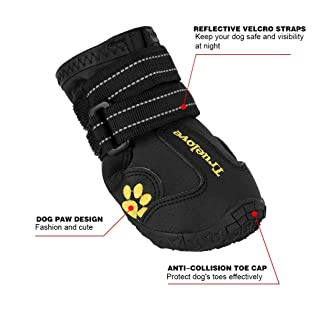 Expawlorer Waterproof Dog Boots Reflective Non Slip Pet Booties