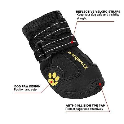Expawlorer Waterproof Dog Boots Reflective Non Slip Pet Booties