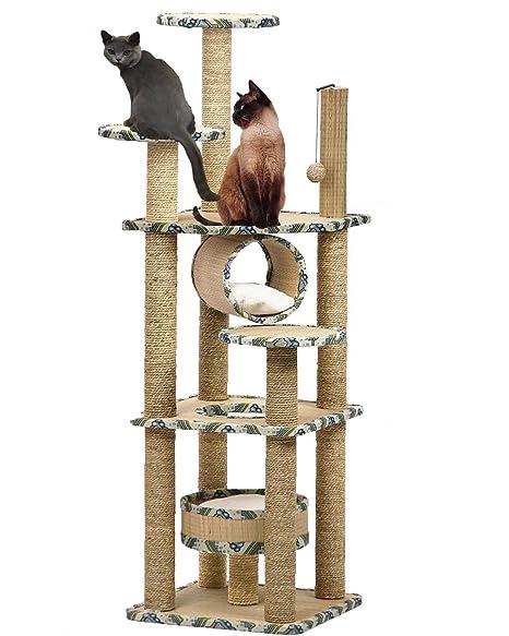Langxun Gato árbol Gato Escalar Marco Cat Jugar Torre Cat rascador Gato Muebles de condominio rascador