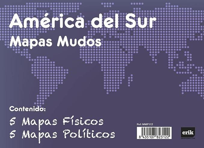 Grupo Erik Editores Pack 10 Mapas Mudos America Del Sur Politica ...