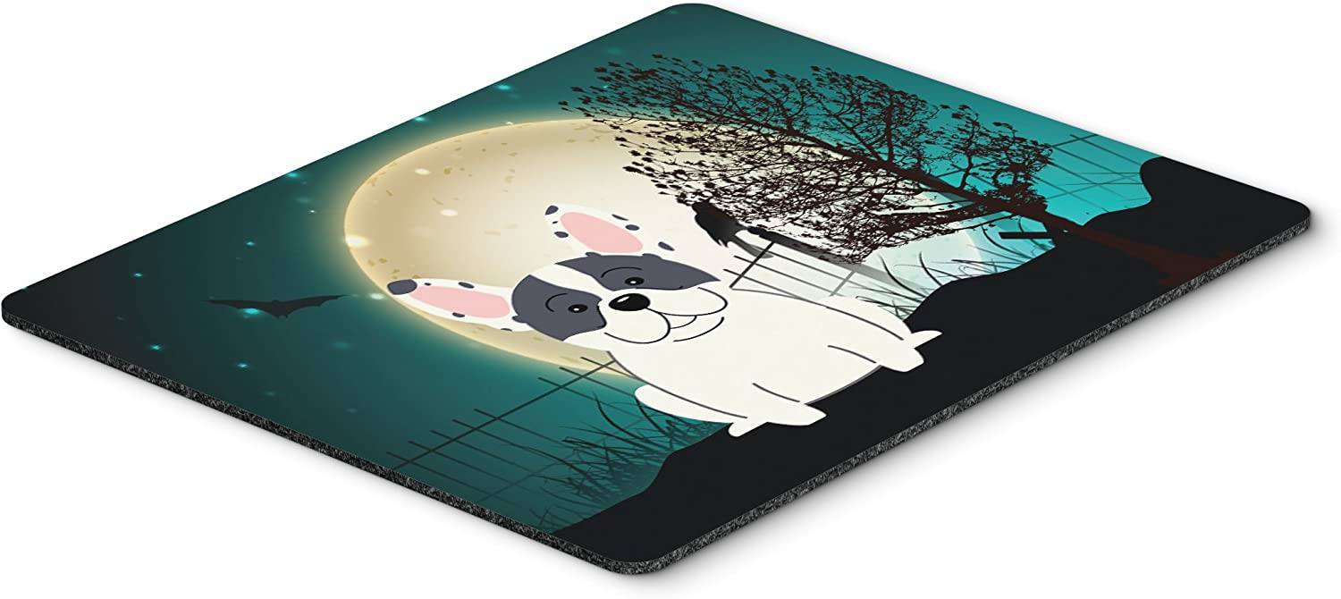 Large Hot Pad or Trivet Carolines Treasures BB2201MP Halloween Scary French Bulldog Piebald Mouse Pad Multicolor