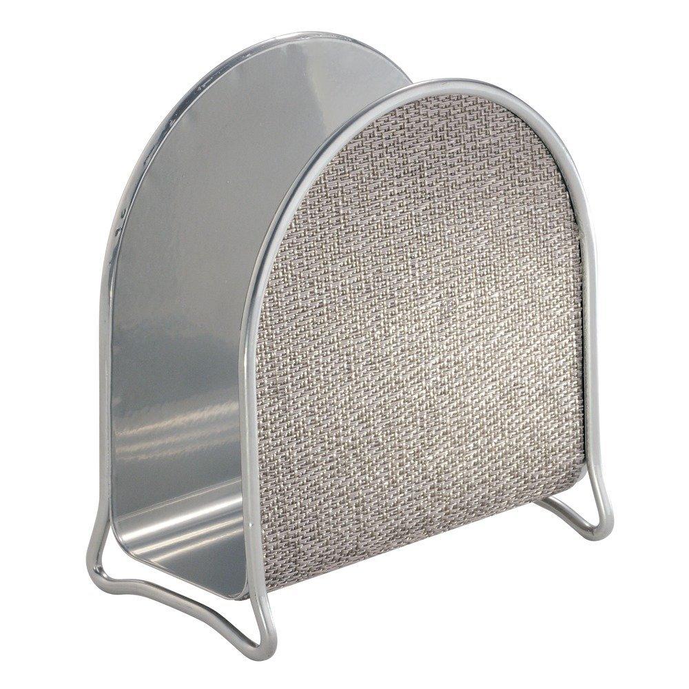 InterDesign Twillo Napkin Holder for Kitchen Countertops, Table - Metallico by InterDesign
