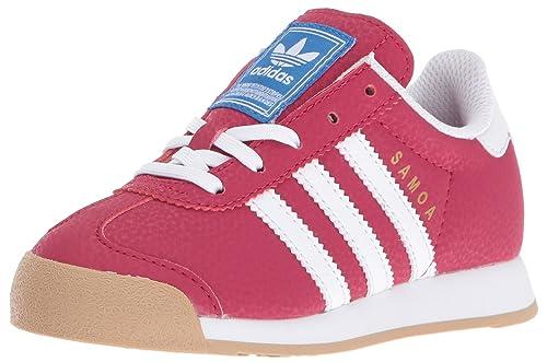 pretty nice 8c12b de26d adidas Originals Girls  Samoa C Running Shoe, Unity Pink White Blue Bird,