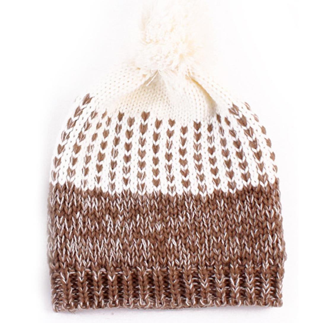 CHIC-CHIC Bonnet Tricot Souple Chaud Chapeau Nouveau né Coton Unisexe Bébé  Garçon Fille Cadeau 0e4a8582f4a