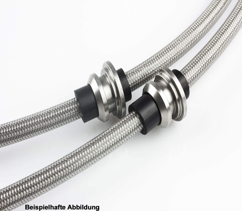 Edelstahl Stahlflex Bremsleitungen kompatibel mit Mazda 3 BM 2.0-165 PS Bj.2014-