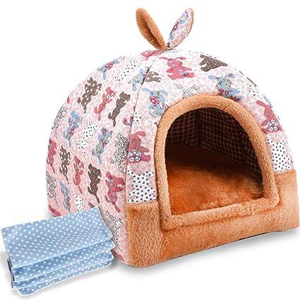 QIQIDEDIAN Kennel yurt Invierno de Doble Uso extraíble y Lavable pequeño y Mediano Perro Mascota camada
