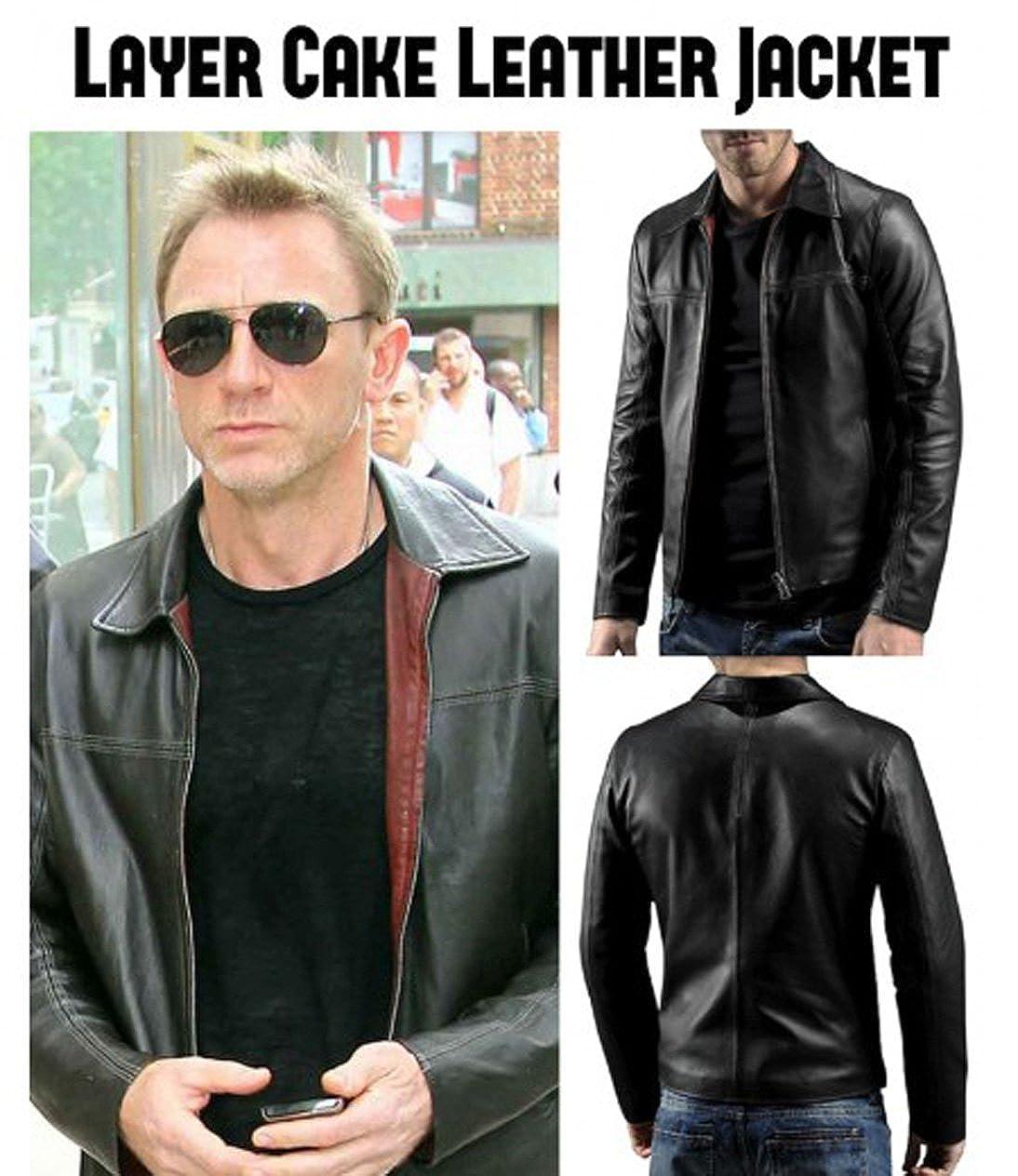 dae7af352fe8 Daniel Craig Layer Cake Leather Jacket (Small)  Amazon.co.uk  Clothing