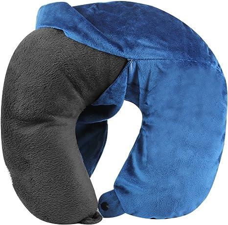 cloudz washable travel neck pillow cover blue
