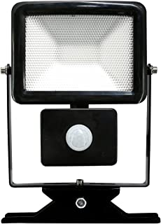 Electraline 63514 Proiettore Faretto da Esterno a LED con Sensore di Movimento, 20 W, Bianco, 30 Watt