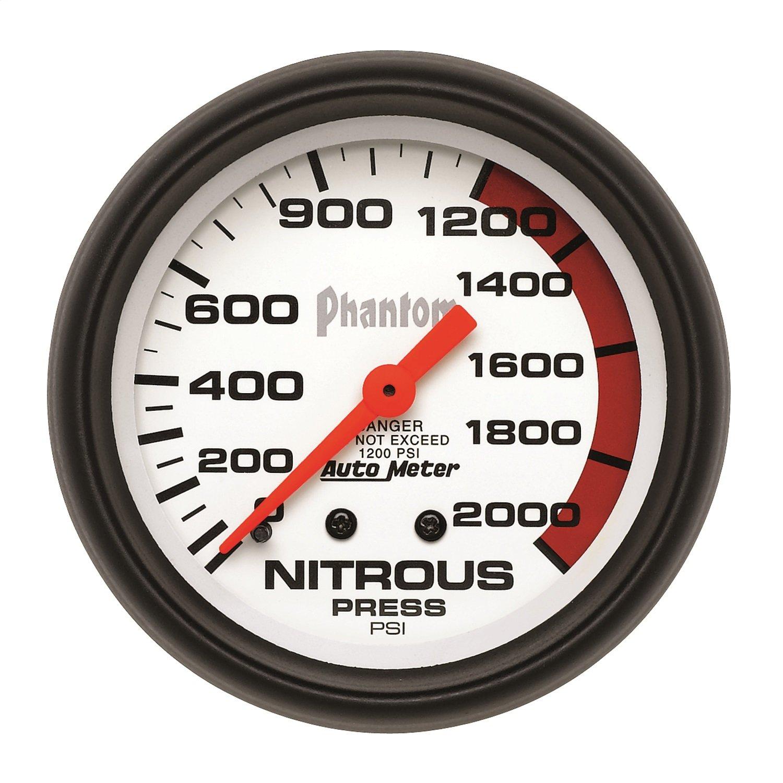 Auto Meter 5828 Phantom Mechanical Nitrous Pressure Gauge by Auto Meter