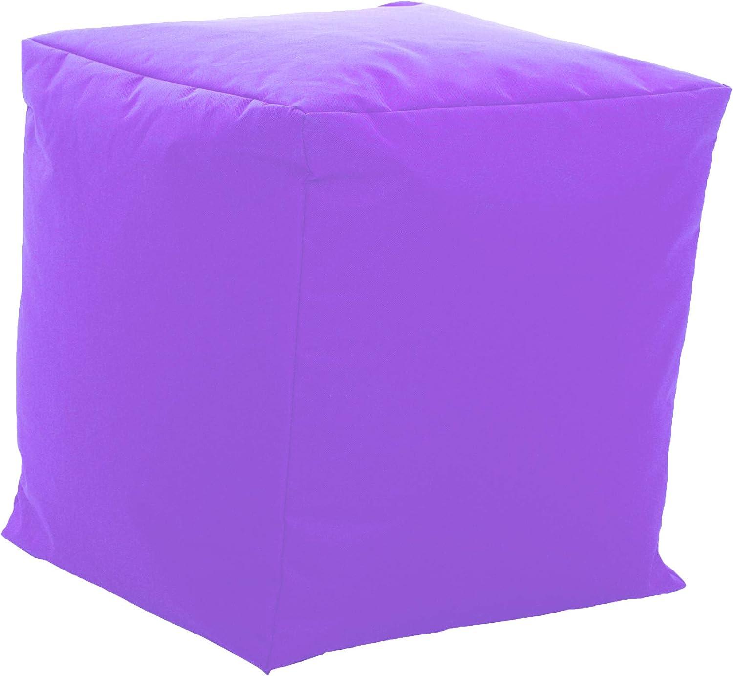 Indoor /& Outdoor auch ideal f/ür Kinderzimmer 42 x 42 x 42 cm, Pink Gaming Sessel Sitzkissen mit Styroporkugeln F/üllung GlueckBean Hochwertiger Sitzsack mit Seitentaschen