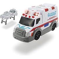 Dickie Ambulancia Action Series 15cm 3302004 (+3 años) Vehículo de Juguete con función Color Blanco (